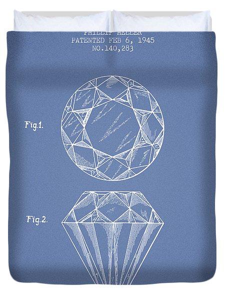 Cut Diamond Patent From 1873 - Light Blue Duvet Cover