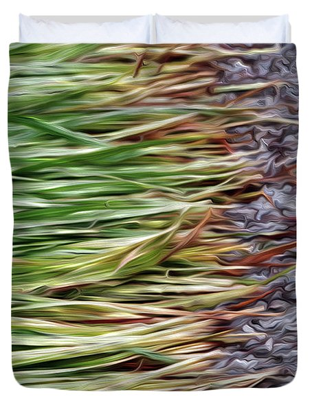 Cut Grass And Pebbles Duvet Cover