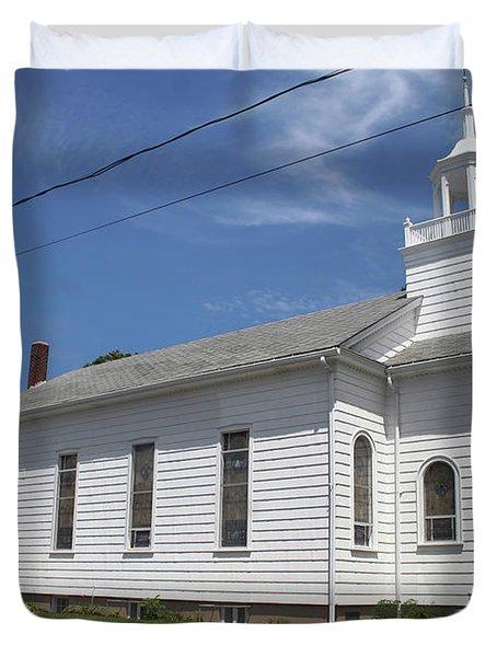 Cutchogue United Methodist Church Duvet Cover