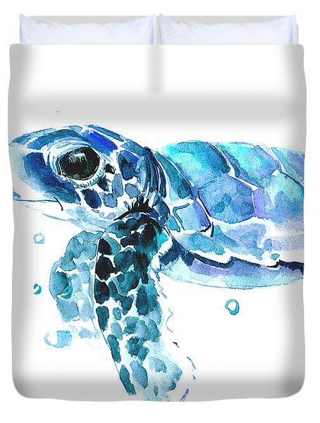 Cute Baby Turtle Duvet Cover