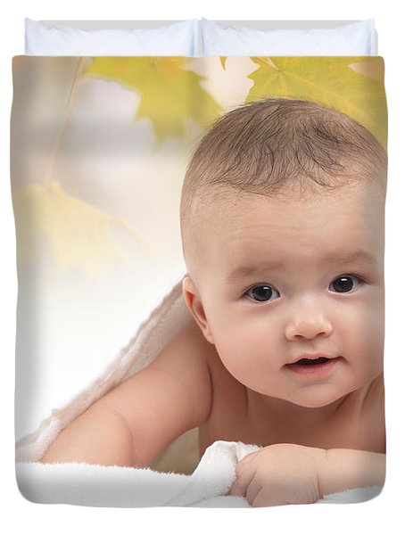 Cute Four Month Old Baby Boy Duvet Cover by Oleksiy Maksymenko