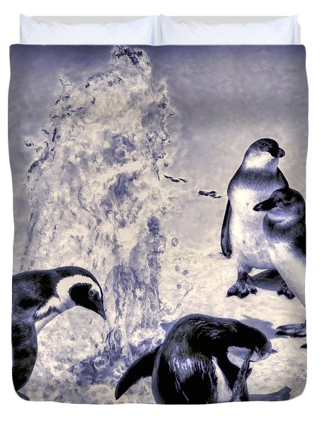 Cute Penguins Duvet Cover