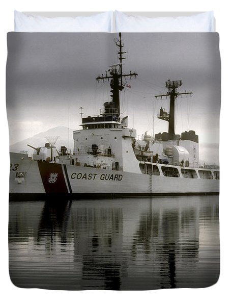 Cutter In Alaska Duvet Cover by Steven Sparks