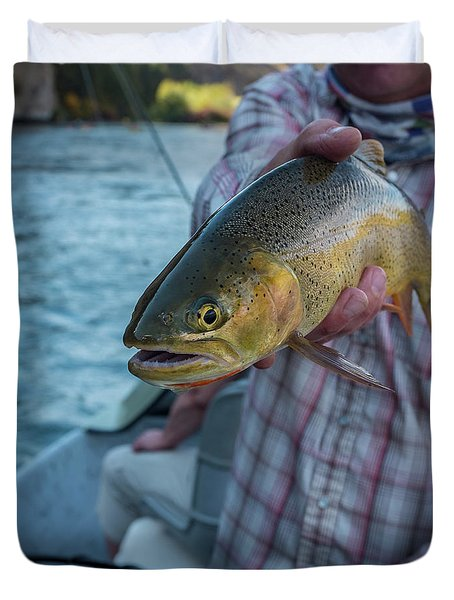 Duvet Cover featuring the photograph Cutthroat Trout by Ron White