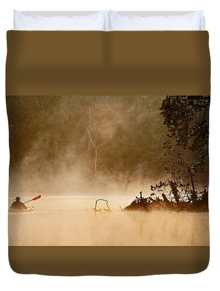 Cutting Through The Mist Duvet Cover