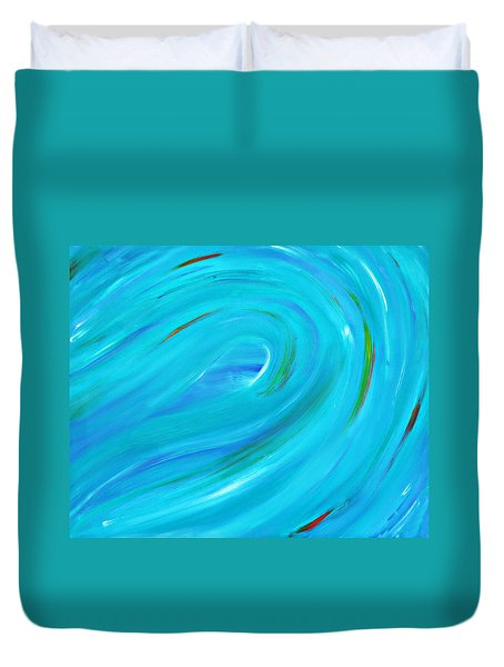 Duvet Cover featuring the painting Cy Lantyca 14 by Cyryn Fyrcyd