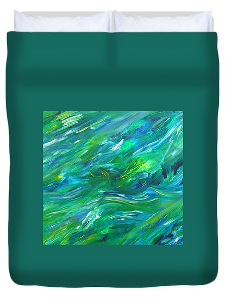 Duvet Cover featuring the painting Cy Lantyca 15 by Cyryn Fyrcyd