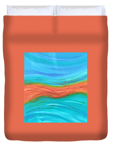 Duvet Cover featuring the painting Cy Lantyca13 by Cyryn Fyrcyd