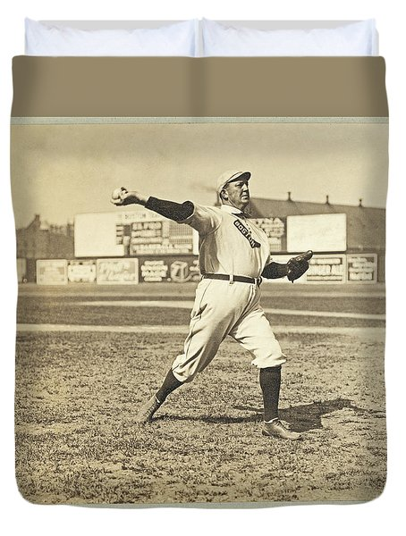 Cy Young July 23rd 1908 Duvet Cover