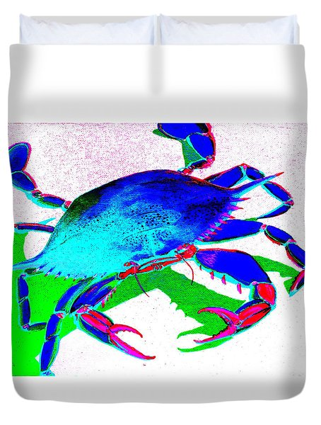 Cyan Crab Duvet Cover