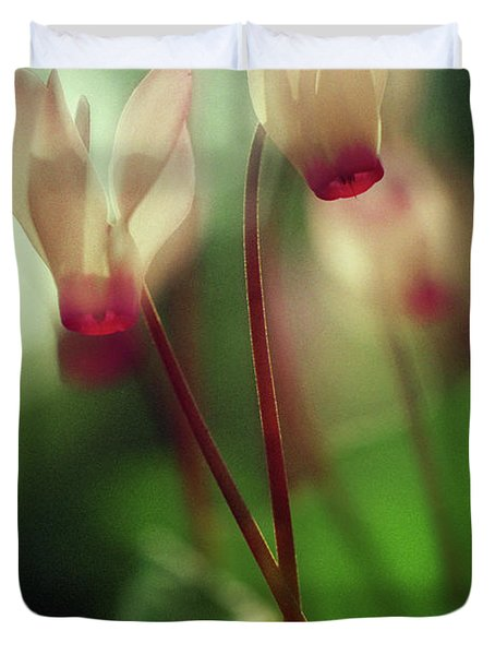 Cyclamens Duvet Cover