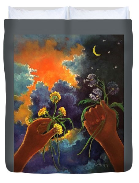 Cycle Of Life  Hands Ot Heaven Series Duvet Cover