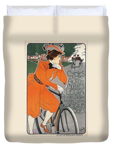 Cycles Et Automobiles Legia Poster 1898 Duvet Cover