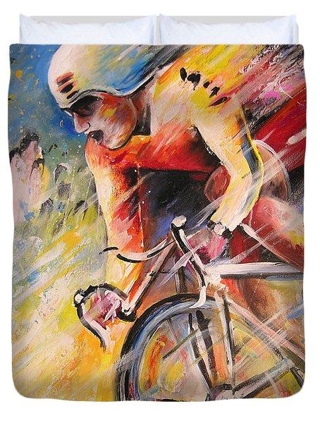 Cycling Duvet Cover by Miki De Goodaboom