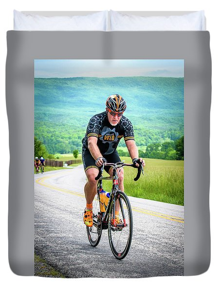 Cyclist Duvet Cover