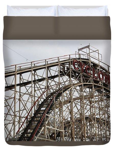 Cyclone Roller Coaster Coney Island Ny Duvet Cover