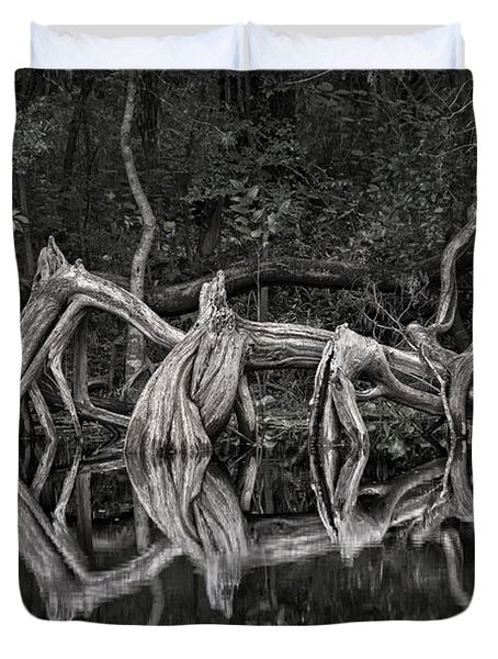 Duvet Cover featuring the photograph Cypress Design by Steven Sparks