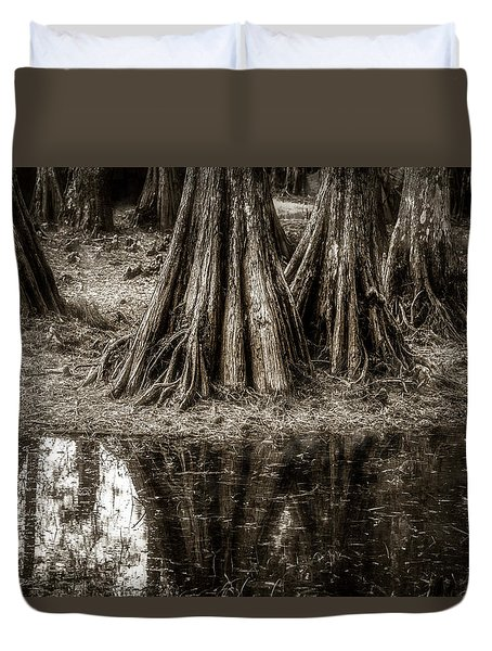Cypress Island Duvet Cover by Andy Crawford