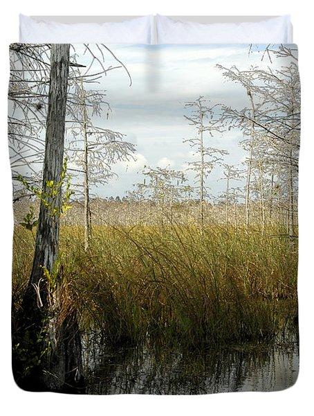 Cypress Landscape Duvet Cover by David Lee Thompson