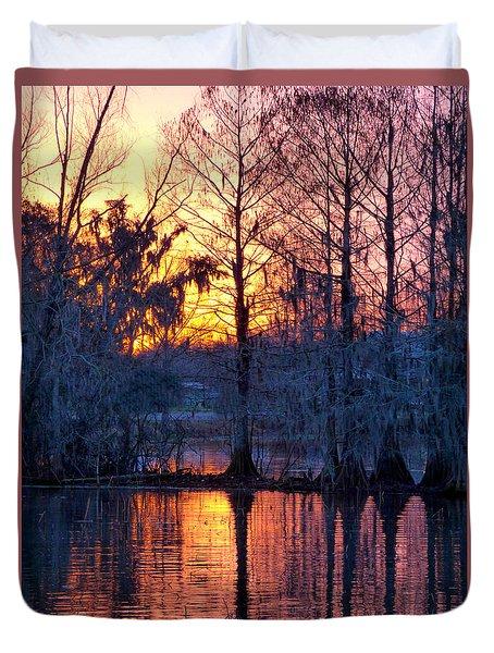 Cypress Sunrise Duvet Cover by Kimo Fernandez