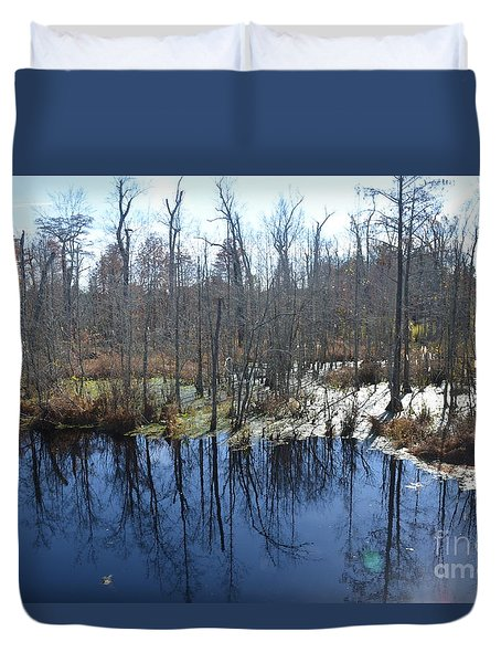 Cypress Swamp Duvet Cover