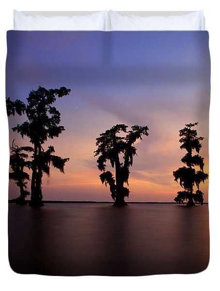 Cypress Trees Duvet Cover