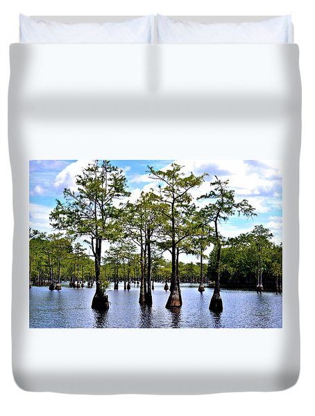 Cypress Trees Of Georgia Duvet Cover