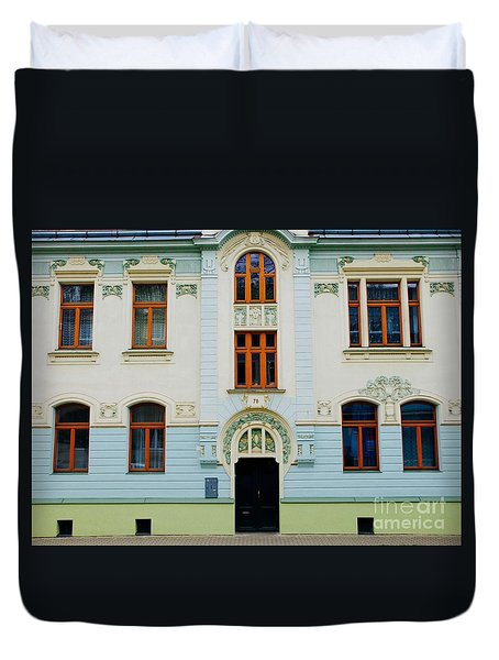 Duvet Cover featuring the photograph Czech Facades by Louise Fahy