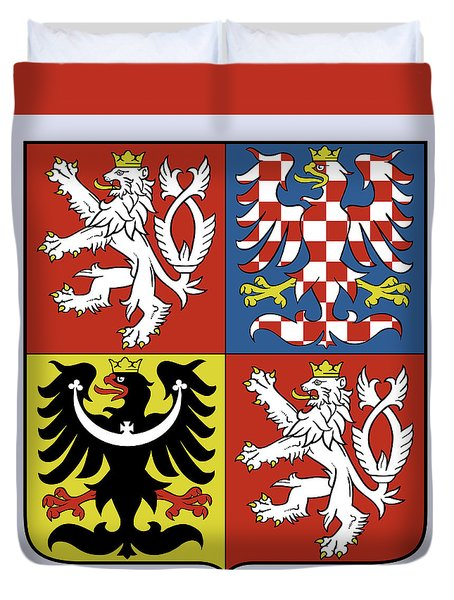 Czech Republic Coat Of Arms Duvet Cover by Movie Poster Prints