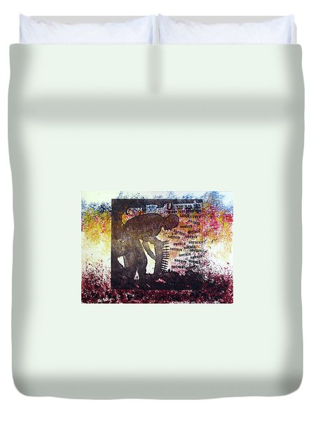 D U Rounds Project, Print 37 Duvet Cover