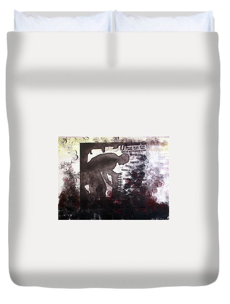 D U Rounds Project, Print 46 Duvet Cover
