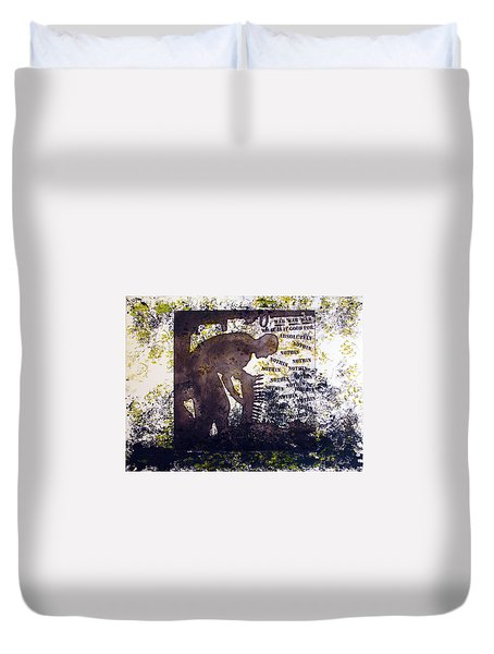 D U Rounds Project, Print 47 Duvet Cover