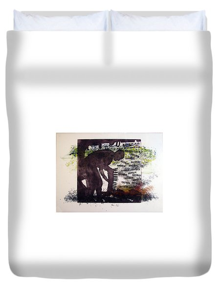 D U Rounds Project, Print 5 Duvet Cover