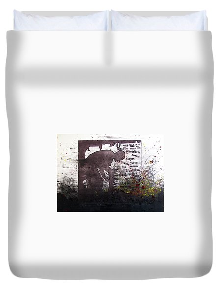 D U Rounds Project, Print 51 Duvet Cover