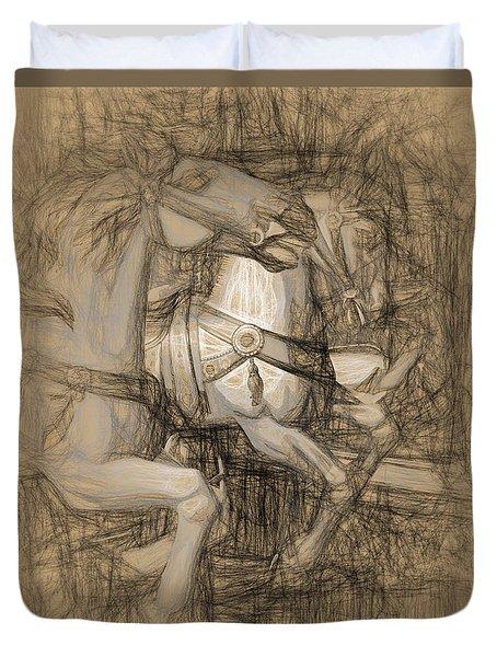 Da Vinci Carousel Duvet Cover