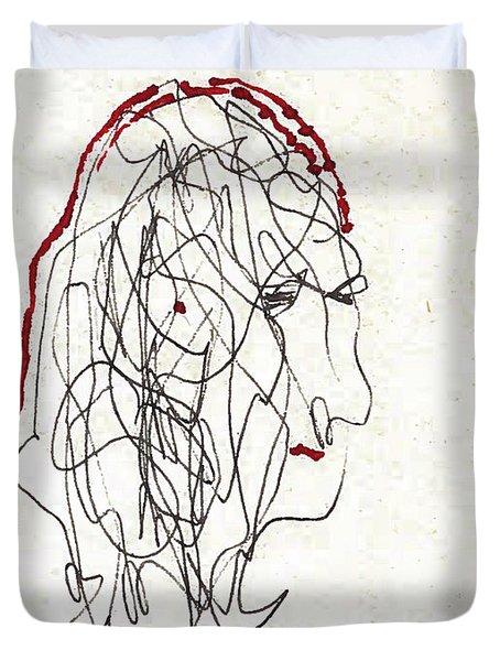 Da Vinci Drawing Duvet Cover
