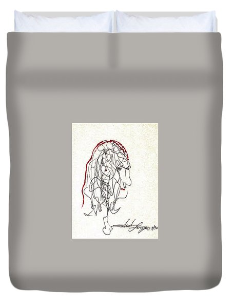 Da Vinci Drawing Duvet Cover