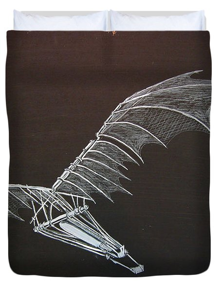 Da Vinci Flying Machine Duvet Cover
