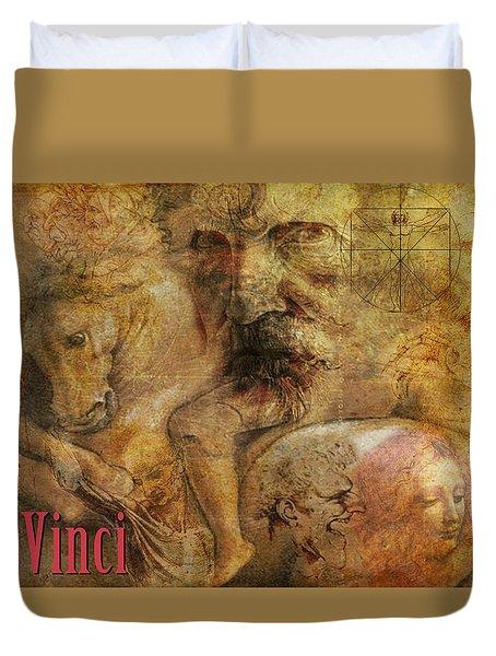 Da Vinci Remastered Duvet Cover by Greg Sharpe