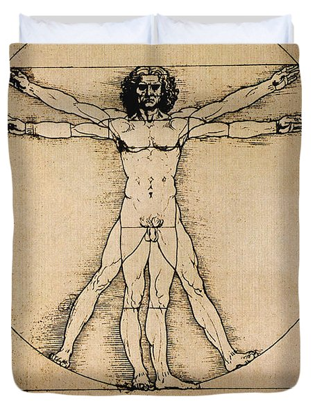 Da Vinci Rule Of Proportions Duvet Cover by Science Source