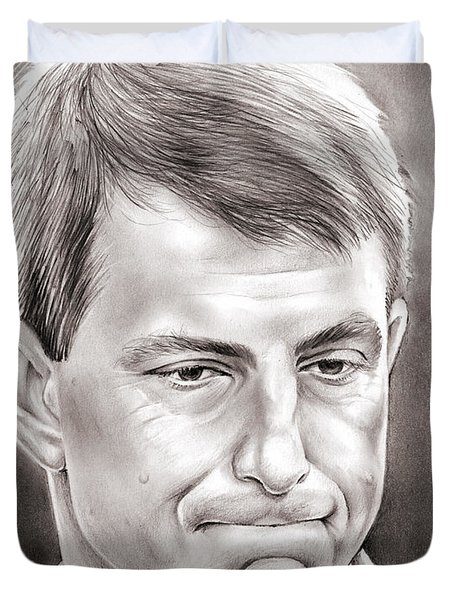 Dabo Swinney Duvet Cover by Greg Joens