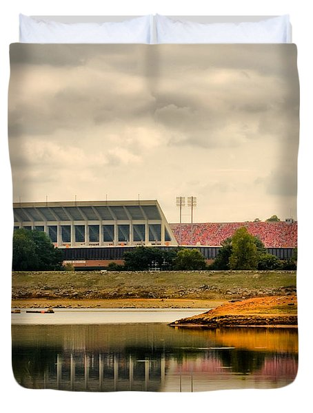 Dabo's First Game Duvet Cover by Lynne Jenkins