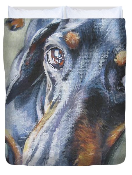 Dachshund Black And Tan Duvet Cover