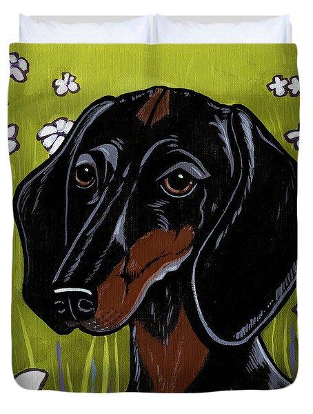 Dachshund Duvet Cover by Leanne Wilkes