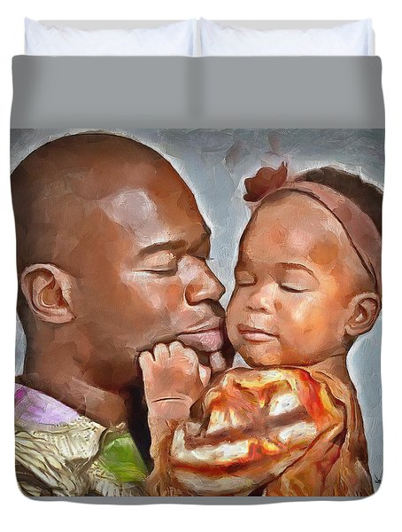 Daddy's Girl Duvet Cover