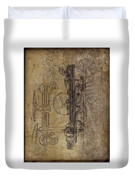 Dads Clarinet Duvet Cover