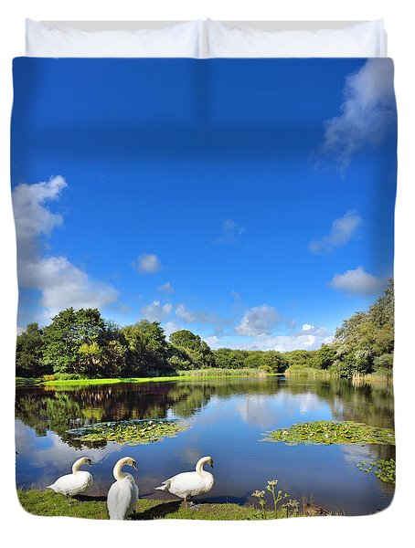 Dafen Pond Duvet Cover