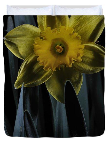 Daffodil By Moonlight Duvet Cover
