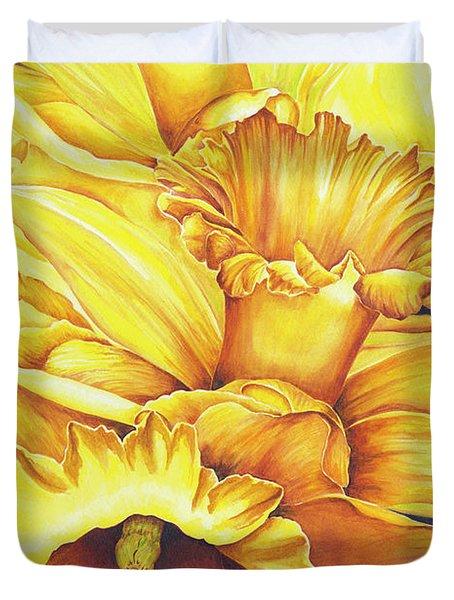 Daffodil Drama Duvet Cover