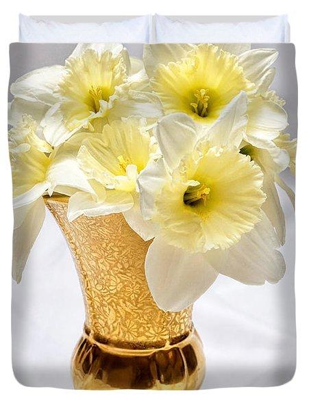 Daffodil Elegance  Duvet Cover